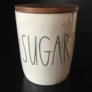 "RAE DUNN ""SUGAR"" Canister Cellar With Wooden Lid"